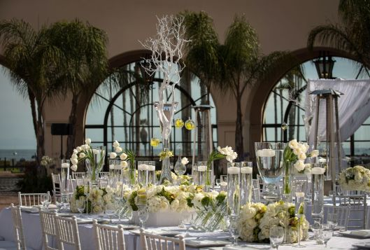 22108651 - a beautifully decorated wedding table